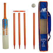 New Balance Wooden Outdoor Cricket Set, Blue with Orange