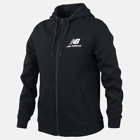 New Balance Boys Essentials Full Zip Hood, ABJ91586BK