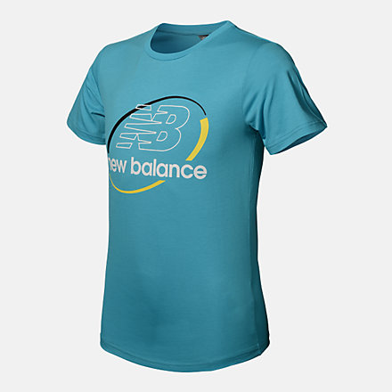 New Balance BOYS OPTIKS ACTION SS TEE, ABT113179VLS image number null