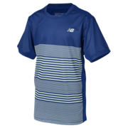 New Balance Boys Tournament Piece Dye Crew, Marine Blue