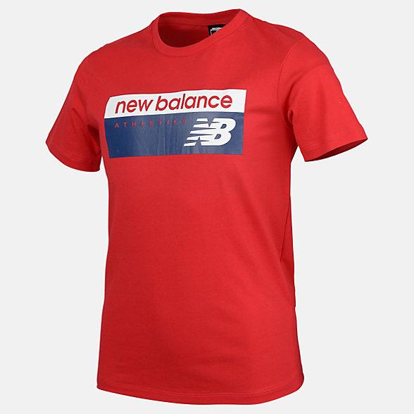 New Balance Boys NB Athletics Banner Tee, ABT91589REP