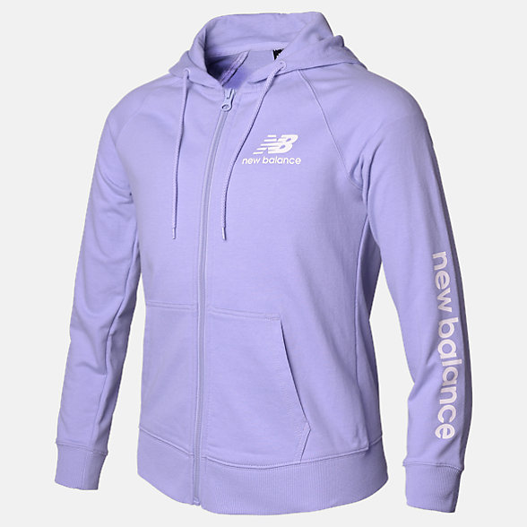 New Balance Girls Essentials FT FZ Hoodie, AGJ93508CAY