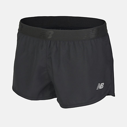 New Balance Girls 2 In 1 Short, AGS81100BK image number null