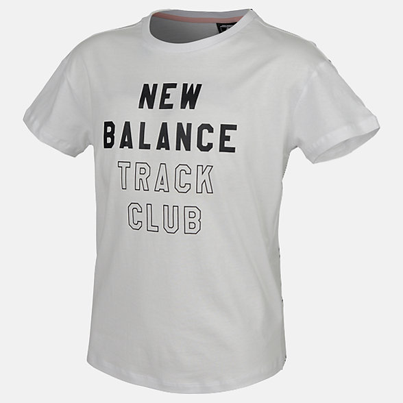 New Balance Girls Track Club Tee, AGT83513WT
