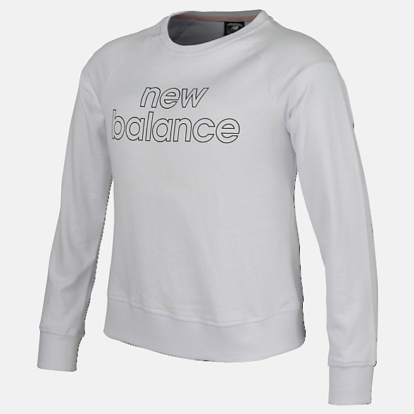 New Balance Girls Logo Crew, AGT83516WT