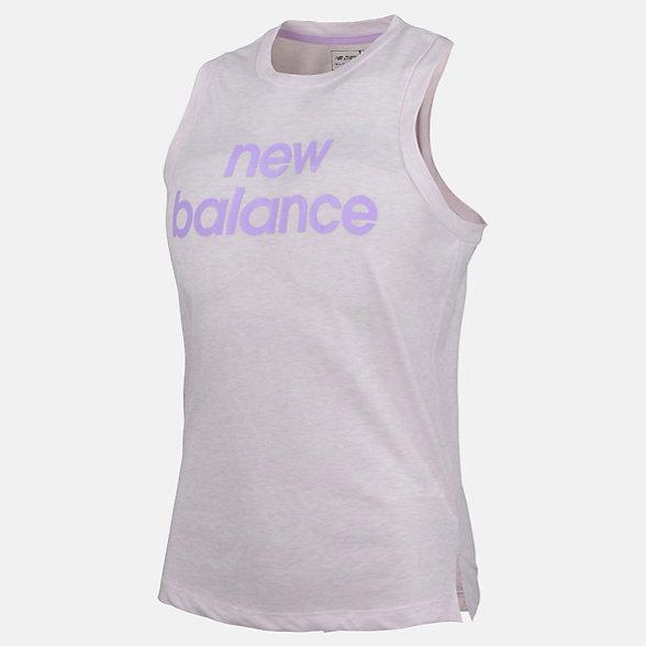 New Balance Girls Heather Tech Tank, AGT91297VTH