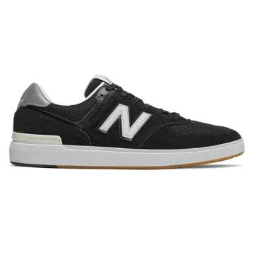 New Balance All Coasts 574, Black with Grey