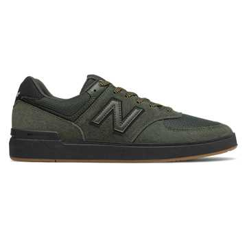 New Balance All Coasts 574, Dark Green with Black