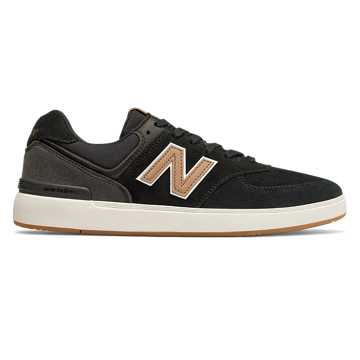 New Balance AM574, Black with Tan