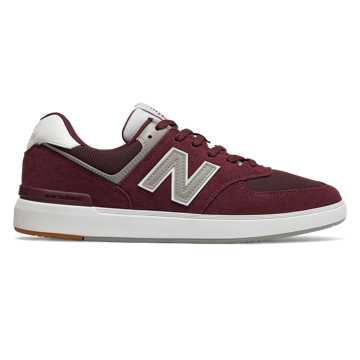 New Balance AM574, Burgundy with White
