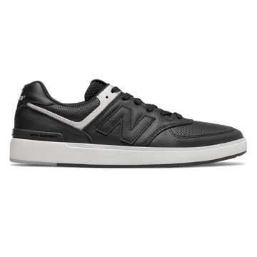 New Balance All Coasts 574, Black with White