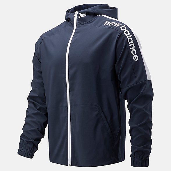 New Balance 男款全拉链运动外套, AMJ11027ECL