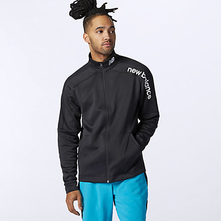 New Balance Tenacity Knit Jacket, AMJ11090BK image number null