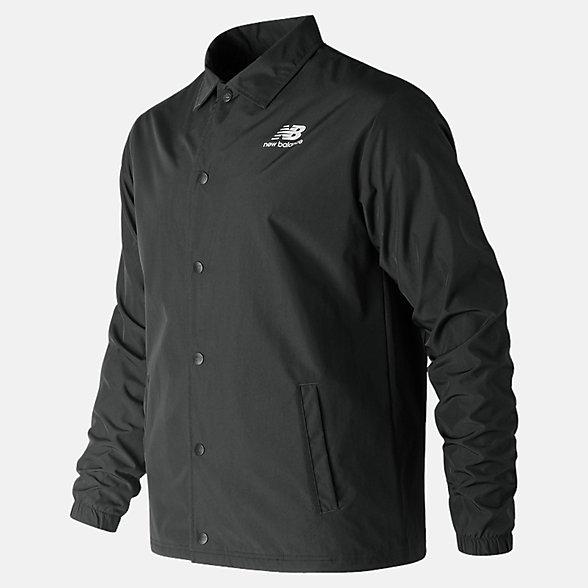 New Balance 男款教練夾克 簡約有型 舒適百搭, AMJ91521BK