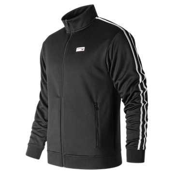 New Balance 男款拉链针织运动外套, BK