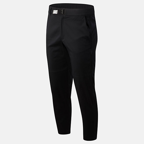 New Balance 男款休闲小脚梭织长裤, AMP01500BK