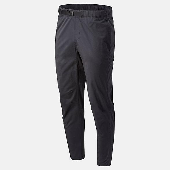 New Balance 男款休闲修身收脚梭织长裤, AMP01504BK