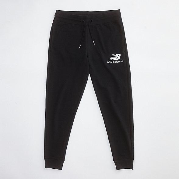 New Balance 男款针织运动长裤, AMP03558BK