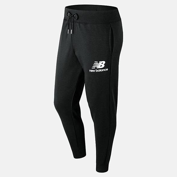 New Balance 男款抽绳束腰针织长裤, AMP91550BK