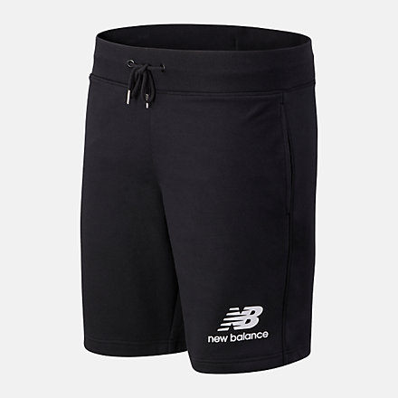 New Balance Essentials Stacked Logo Short, AMS03558BK image number null
