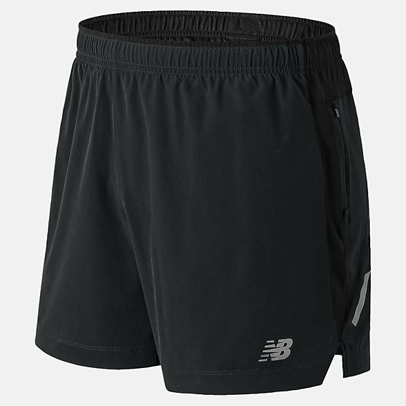 New Balance 男款梭织短裤 吸湿排汗, AMS81263BM
