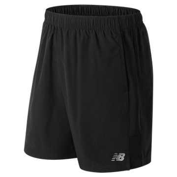 New Balance 男款梭织短裤 吸湿排汗 舒适运动, BK