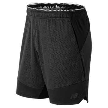New Balance 男款针织短裤 速干透气 运动自如, BK