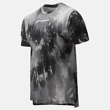 New Balance Printed R.W.T. Heathertech Tee, AMT01061BM image number null