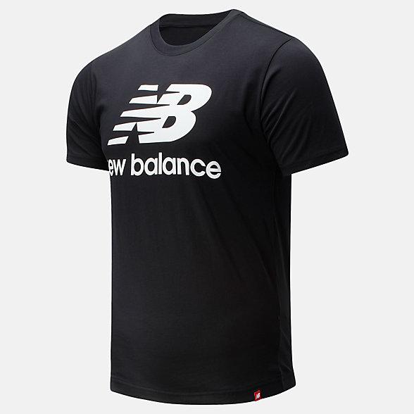 New Balance 男款簡約休閑短袖T恤, AMT01575BK