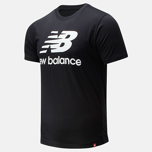 New Balance 男款简约休闲短袖T恤, AMT01575BK