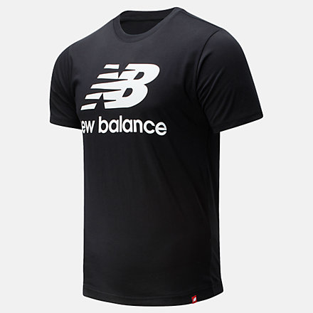 New Balance Essentials Stacked Logo T恤, AMT01575BK image number null