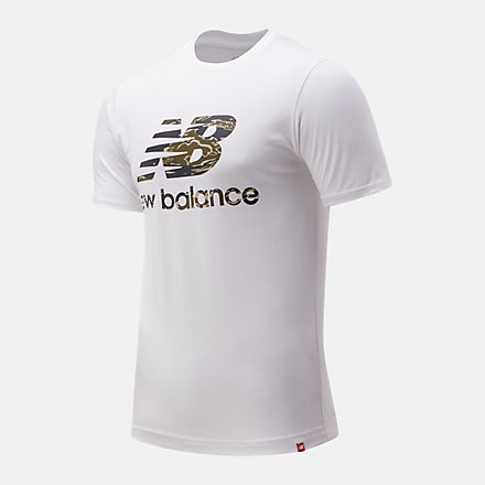 New Balance Essentials Stacked Logo Tee, AMT01575WM image number null