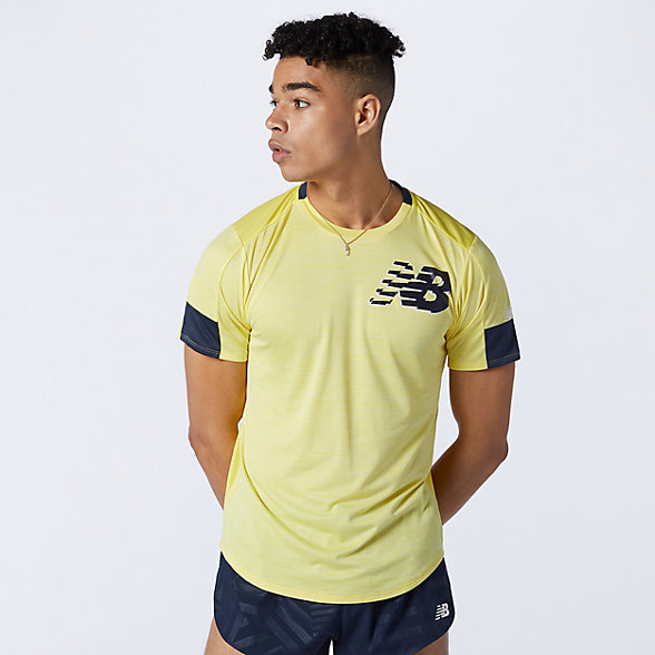 New Balance 男款印花速干短袖T恤, AMT11241FLH