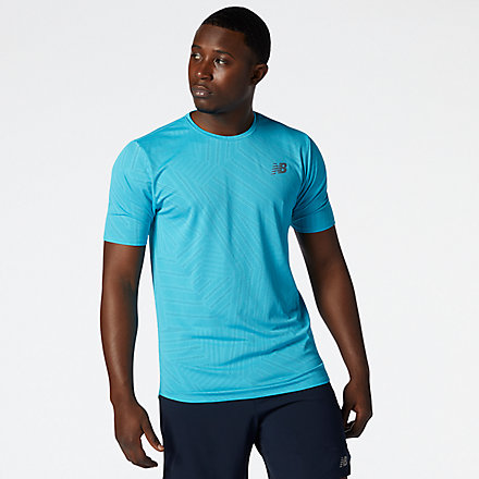 New Balance Q Speed Fuel Short Sleeve, AMT11278VLS image number null
