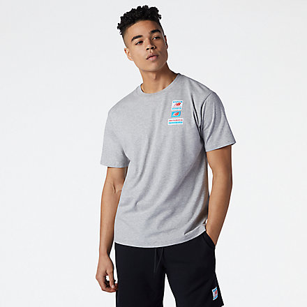 New Balance NB Essentials Tag Tee, AMT11516AG image number null