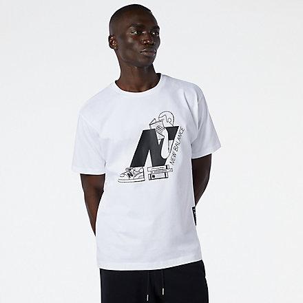 New Balance NB Athletics Delorenzo N T恤, AMT11520WT image number null