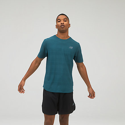 New Balance Q Speed Jacquard Short Sleeve, AMT13277MTL image number null
