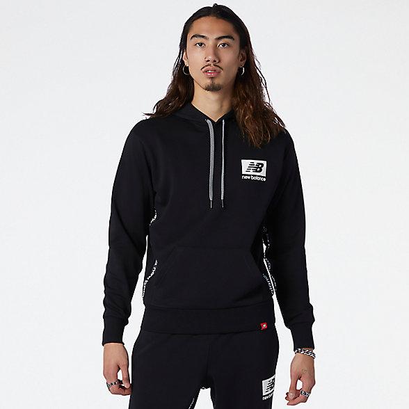 New Balance 男款休闲连帽卫衣, AMT13516BK