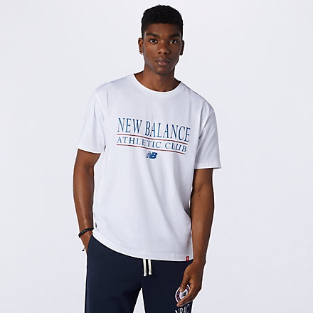New Balance NB Essentials Athletic Club Tee, AMT13522WT image number null