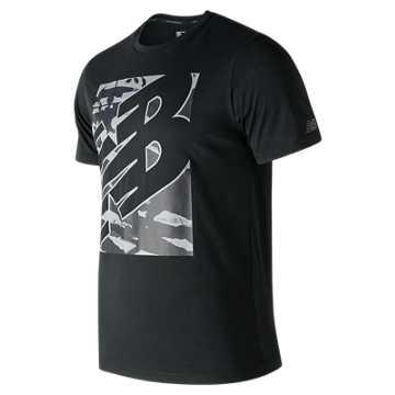 New Balance 男款短袖T恤 速干排湿 清爽运动, BK