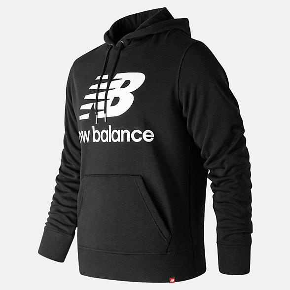 New Balance 男款休闲连帽卫衣, AMT91547BK