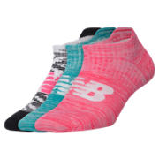 New Balance Womens Heather Invisible 3 Pk, Multi Color