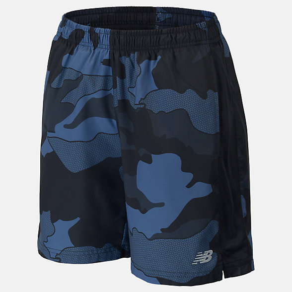 New Balance Boys Printed Accelerate 5 Short, ABS01204BSL