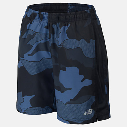 New Balance Boys Printed Accelerate 5 Short, ABS01204BSL image number null