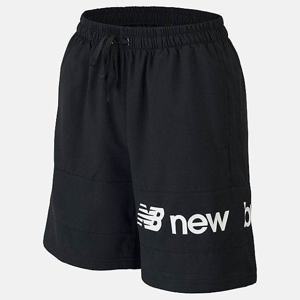 New Balance Boys NB Athletics 7 Woven Short, ABS93512BK