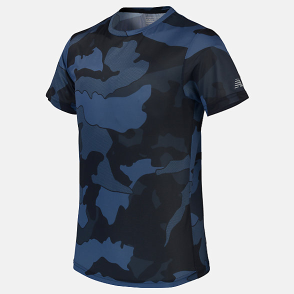 New Balance Boys Printed Accelerate Tee, ABT01202BSL
