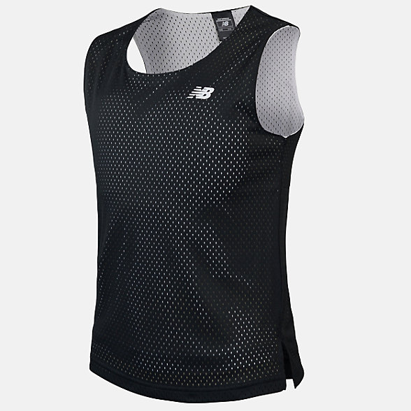 New Balance Boys Reversible Basketball Singlet, ABT01203BK
