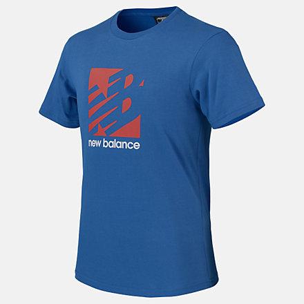 New Balance Boys Square Logo Tee, ABT01512MAK image number null