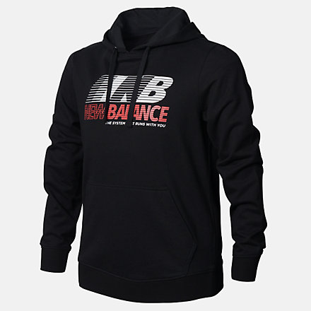 New Balance Boys Speed Hoodie, ABT03501BK image number null