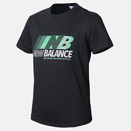 New Balance Boys Speed Tee, ABT03503BK image number null